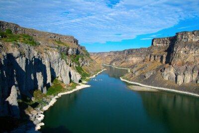 Image Snake River et son canyon, vu de Shoshone tombe près de Twin Falls, Idaho