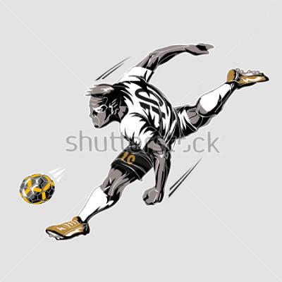 Image Soccer player power kick
