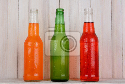 Soda Bottles on Wood