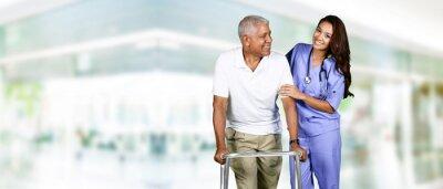 Image Soins de santé des travailleurs et des personnes âgées Homme