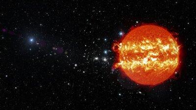 Image Soleil dans l'espace. Éléments de cette image fournis par la NASA