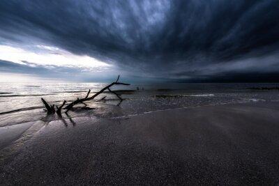 Image Sombre, nuages, océan