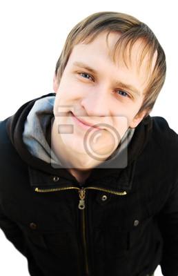 souriant homme gai regardant la caméra. visage agréable