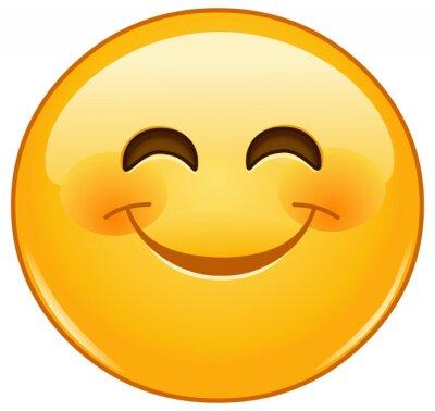 Sourire Emoticone Sourire Yeux Peintures Murales Tableaux Rose Colore Emoticones Smiley Myloview Fr