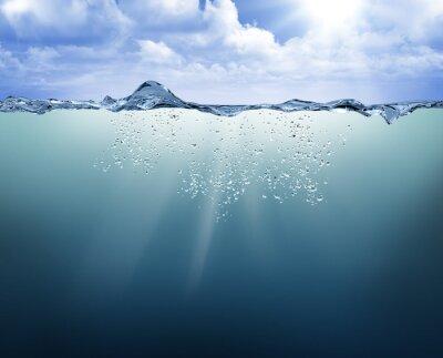 Image Sous-marin, vue, bleu, eau