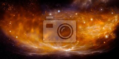 space nebula panorama, beautiful Night sky. Galaxy background with stars