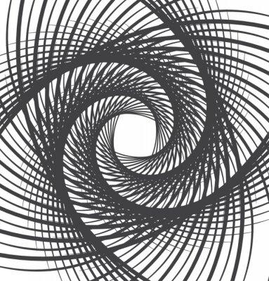 Image Spirale, tourbillon, résumé, fond, noir, blanc