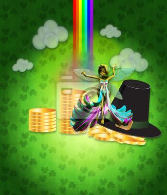 St Patricks conception de jour avec la fée