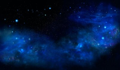 Starry night sky deep outer space - Universe filled with stars, nebula and galaxy