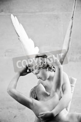 Image Statue de la Psyché de Antonio Canova ranimée par le baiser de l'Amour, la première mise en service en 1787, illustre la dévotion néoclassique à l'amour et l'émotion