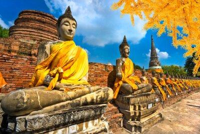 Image Statues de Bouddha à Ayutthaya, en Thaïlande,