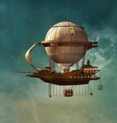 Image Steampunk fantastique dirigeable