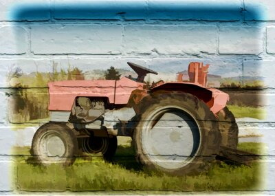 Image Street art, tracteur agricole
