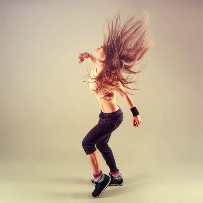 Image Studio de tournage du funk jazz active féminine danseur mobile.