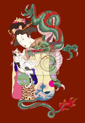 Style De Tatouage Japonais Traditionnel Femmes Japonaises En