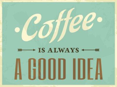 Image Style rétro affiche de café