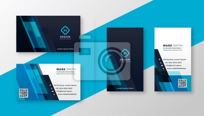 Image stylish blue elegant business card design