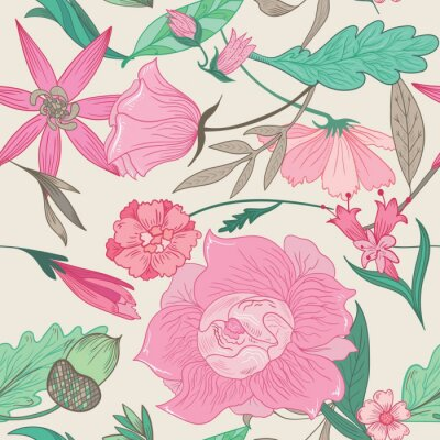 Image Summer Pattern in Pale Colors