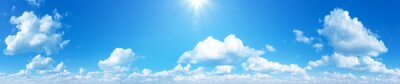 Image sunny sky background whith clouds