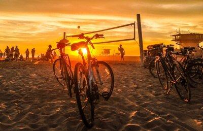 Image sunset beach-volley à la plage de Venise