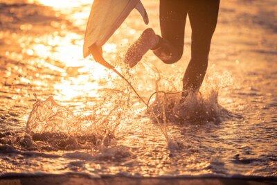 Image Surfer, courant, eau, sien, planche