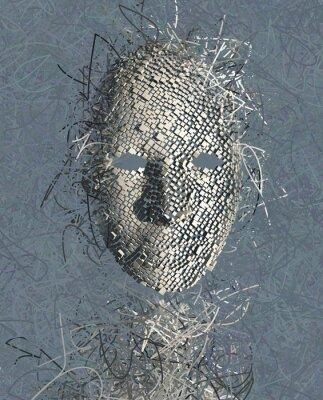 Image Surréaliste abstrait Mask avec Beaucoup de fils