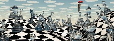 Image Surréaliste échecs Paysage