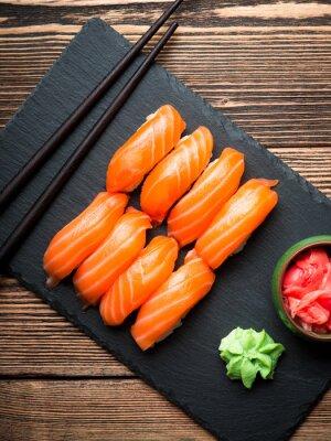 Image Sushi au saumon
