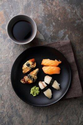 Image Sushi frais aux poissons