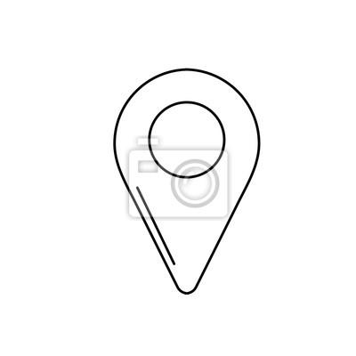 Image Symbole De Localisation Ligne Pour Seach Dans Licone Carte