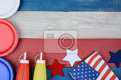 Table de pique-nique patriotique vacances