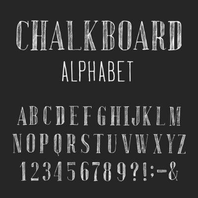 Image Tableau Alphabet Vecteur police