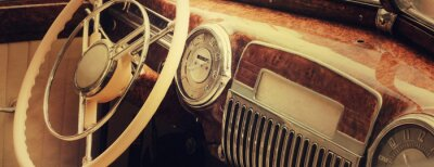 Image Tableau de bord de voiture Vintage (fragment)
