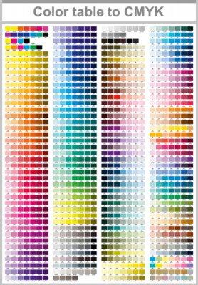 Image Tableau de couleurs Pantone à CMYK. Page de test d'impression couleur. Illustration Couleurs CMJN pour l'impression. Palette de couleurs vectorielles