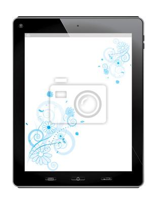 Tablet avec un design floral