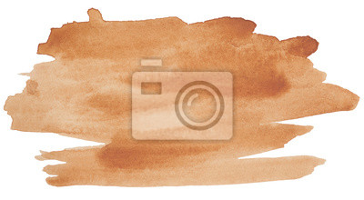 Image tache d'aquarelle, marron pour la conception