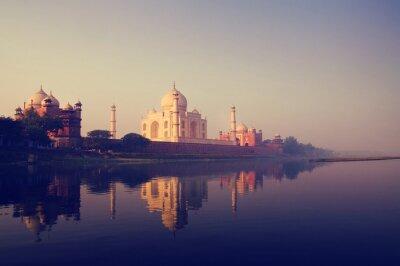 Image Taj Mahal en Inde sept merveilles Concepts
