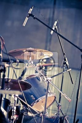 tambours et les microphones
