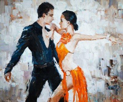 Image Tango danseurs peinture numérique, tango danseurs