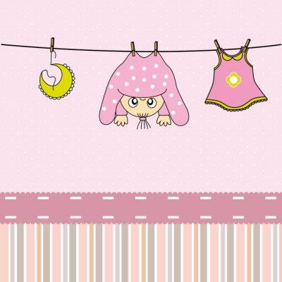 Image Tarjeta nacimiento bebe niña