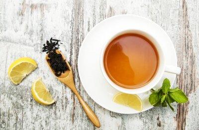 Image Tasse de thé au citron et à la menthe