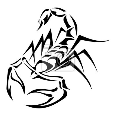 Dessin Tatouage Scorpion Tribal Tuer Auf