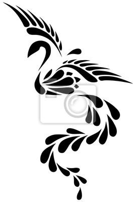 Tatouage Tribal Noir Et Blanc De Phoenix Peintures Murales