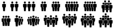 Image Team icons set. People .Group of people icons. Vector illustration