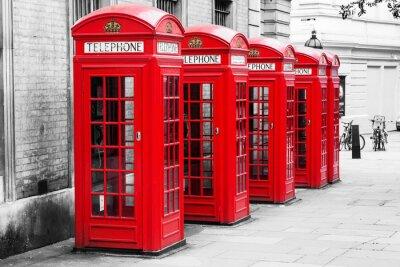 Image Telefonzellen à Londres im Couleur-Key-Verfahren
