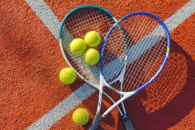 Image Tennis, Balle de tennis, Fond.