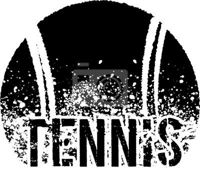 Image tennis dark grunge