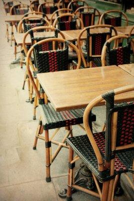 Image terrasse de café à l'ancienne