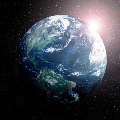 Image Terre dans l'espace montrant l'Europe, l'Asie et l'Afrique