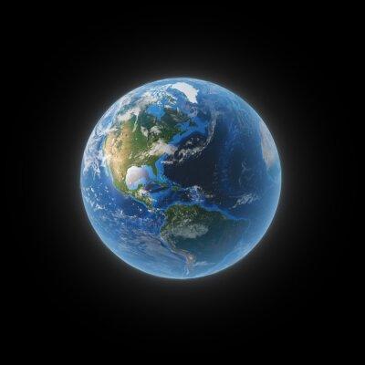 Image Terre depuis l'espace montrant l'Amérique du Nord et du Sud